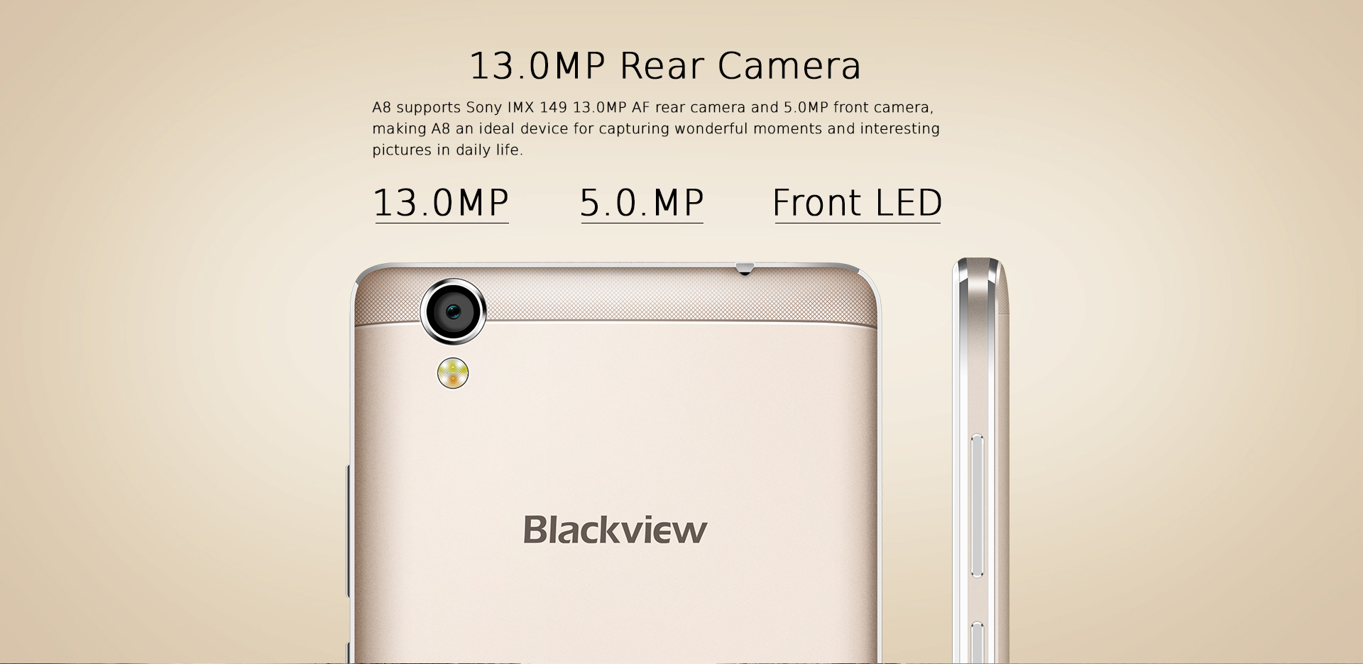 iGET BLACKVIEW A8 G / W cameras