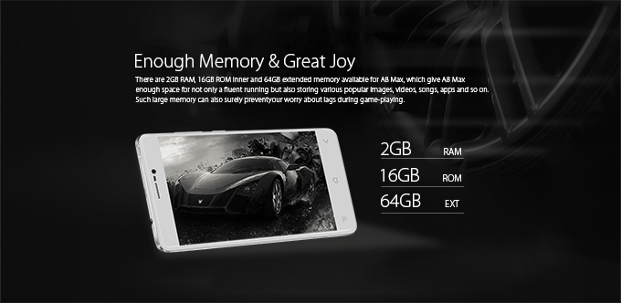 iGET BLACKVIEW A8G MAX memory