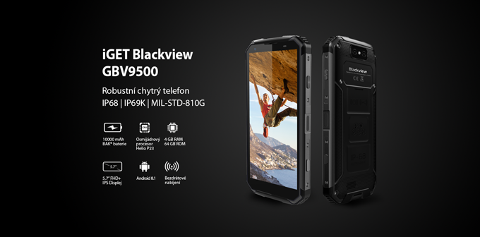 iGET BLACKVIEW GBV9500 Black | iGET
